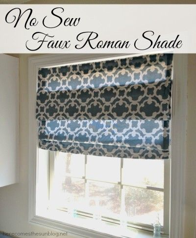 No Sew Faux Roman Shade - Here Comes The Sun
