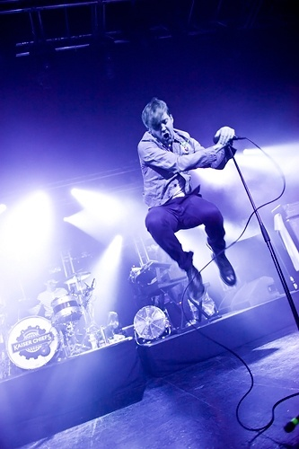 Ricky Wilson of Kaiser Chiefs performs at the O2 Academy in Birmingham, United Kingdom on February 3rd, 2012.