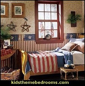 Nice Decorating Theme Bedrooms   Maries Manor: Primitive Americana Decorating  Style   Folk Art   Heartland