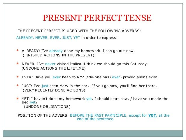 uses of present perfect tense - Buscar con Google
