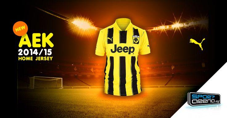 #AEK #Jersey for 2014/15 season!  http://www.sportarena.gr/en-us/eur/aek_match_kits/aek-match-kits?utm_source=pinterest.com&utm_medium=referral&utm_campaign=AEK1415home06022015