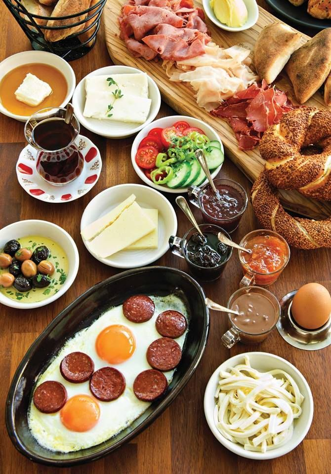 The turkish breakfast...The best breakfast in the world. / Türk kahvaltısının eşi benzeri yoktur.