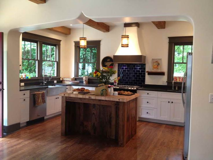 Ideas For Reclaimed Wood Kitchen Island Reclaimed Wood Kitchen Island With Lighting Http