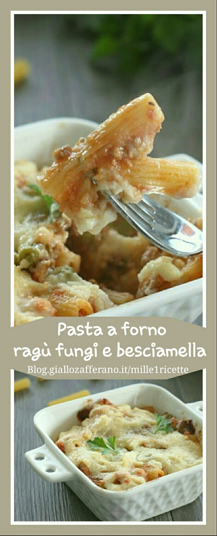 La pasta a forno con ragù, funghi e besciamella, nasce dalla voglia di cambiare, di non fare le lasagne o una semplice pasta al forno ma di arricchirla Ecco la mia ricetta http://blog.giallozafferano.it/mille1ricette/pasta-forno-ragu-funghi/