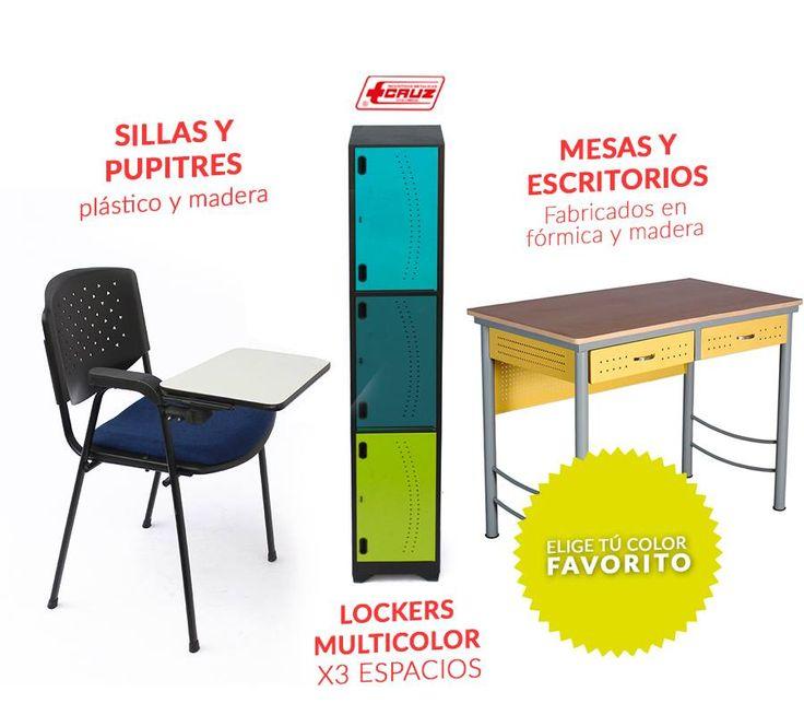 Encuentra los mejores productos escolares para niños, sillas, mesas, escritorios y mucho más en Metálicas Cruz