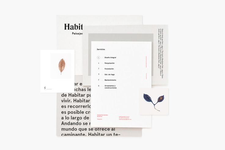 "Clara Fernández | http://behance.net/cla ""Graphic identity for Habitar Landscapes, professional and small team based in Buenos Aires, dedicated to projecting, designing and building sustainable landscapes. Their proposal is based on space to..."