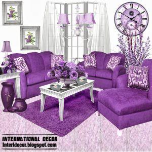Purple Leather Sofa Sets