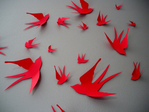 Wall Decor With Construction Paper : Top best paper birds ideas on how to do