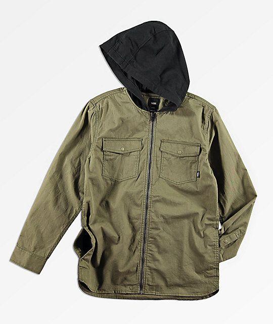 153ec17825 Vans Boys Higgins Grape Leaf Jacket