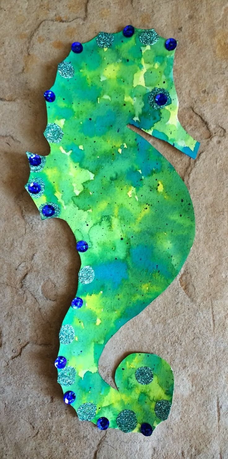Kathy's AngelNik Designs & Art Project Ideas: Watercolor Sea Horse Art Lesson