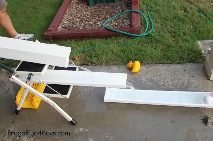Inexpensive Backyard Play with Rain Gutters and Drain Pipe ~ Frugal Fun for Boys