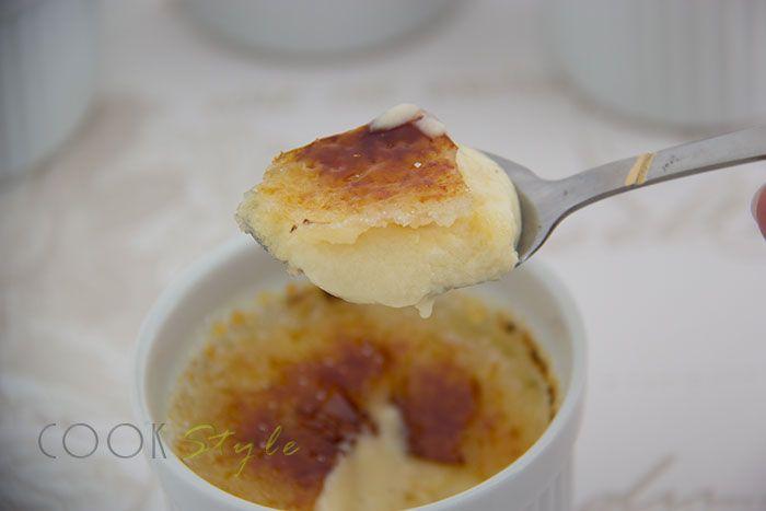 Creme brulee with cardamon