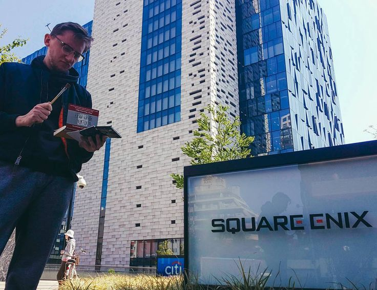 Lunch break sketching at Square Enix. . . . . #artursadlos #squareenix #lunchbreak #lunch #sketching #watercolor #japan #tokyo #shinjuku #me #picoftheday #artistsoninstagram #gamedev #jrpg #finalfantasy #dragonquest