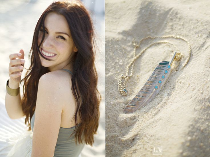Elza Photographie Cynthia Dulude #beach #sand #brownhair #necklace #feather