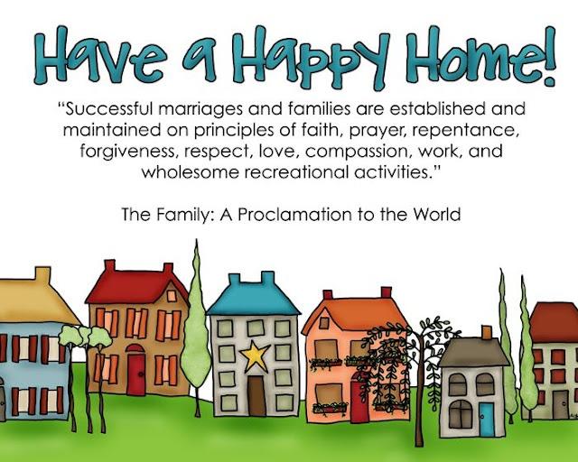 Happy Home Free Printable  Family Proclamation Lesson Idea