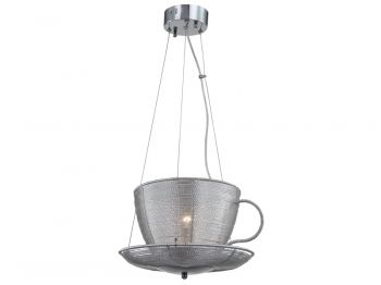 What's better than a good cup of tea or coffee? Sipping under this unique #cup and #saucer #pendant combo! #light #lighting #cute #home #decor