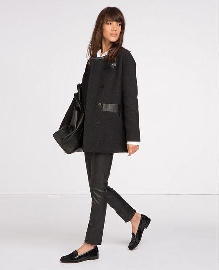 Manteau en laine   Blousons et manteaux   Comptoir des Cotonniers
