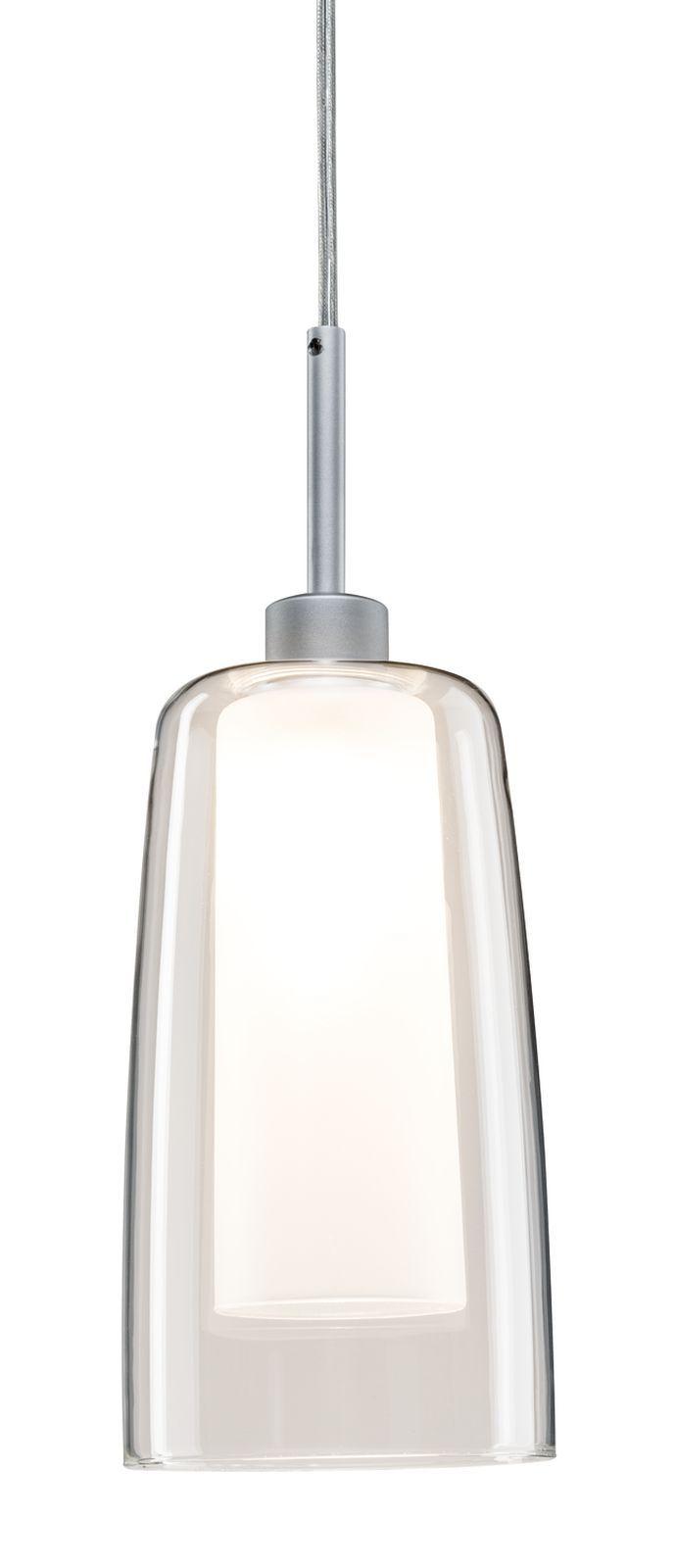 Paulmann URail LED Pendulum Arido 3W Chrom matt mit klarem und satiniertem Glas