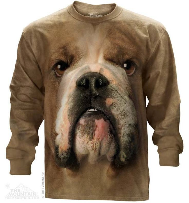 Big Face Bulldog Long Sleeve Tee - 30% DISCOUNT ON ALL ITEMS - USE CODE: CYBER  #Cybermonday #cyber #discount