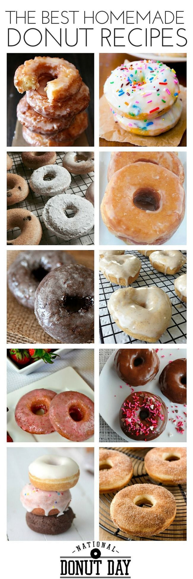National Donut Day: the Best Make Your Own Donut Recipes   Make it donut day every day with homemade donuts!