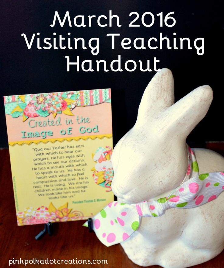 March 2016 Visiting Teaching Handout - Pink Polka Dot Creations