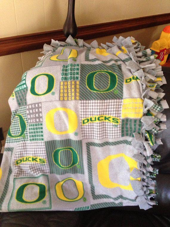 University of Oregon Ducks Fleece Tie Blanket by BlanketsUnlimited, $57.00