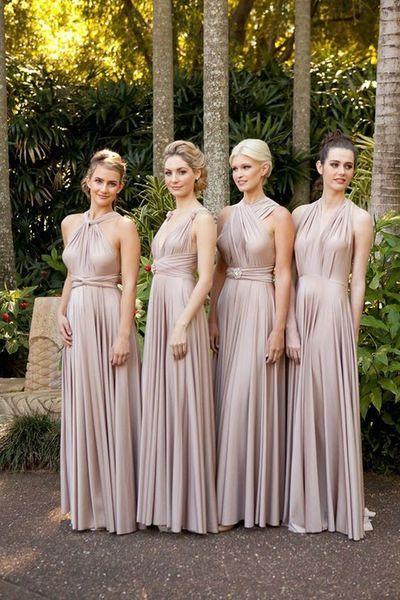 Long taffeta bridesmaid dresses, convertible bridesmaid dresses, halter bridesmaid dresses, cheap bridesmaid dress, popular bridesmaid dress,PD190203