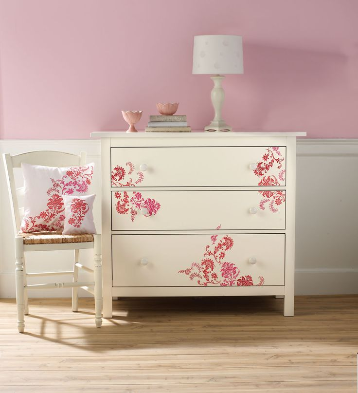 Compare colors and create the perfect palette with the craft paint Color Finder.  -I also love this dresser! Pretty stenciling.