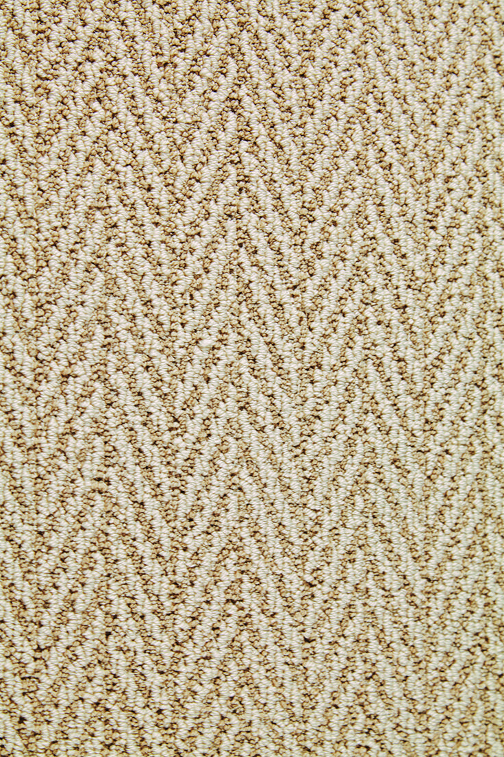 A Beautiful Herringbone Patterned Carpet Stainmaster