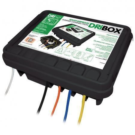 330 Outdoor Waterproof/Weatherproof Cable Connection Dry Box - Black at MCM Electronics