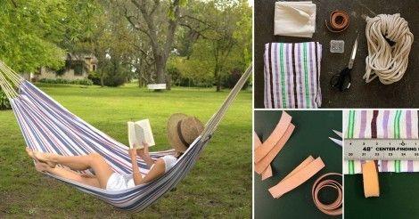 Aprende paso a paso cómo construir una hamaca para colgar en tu jardín o llevarte de viaje y disfrutar de un fresco descanso al aire libre.