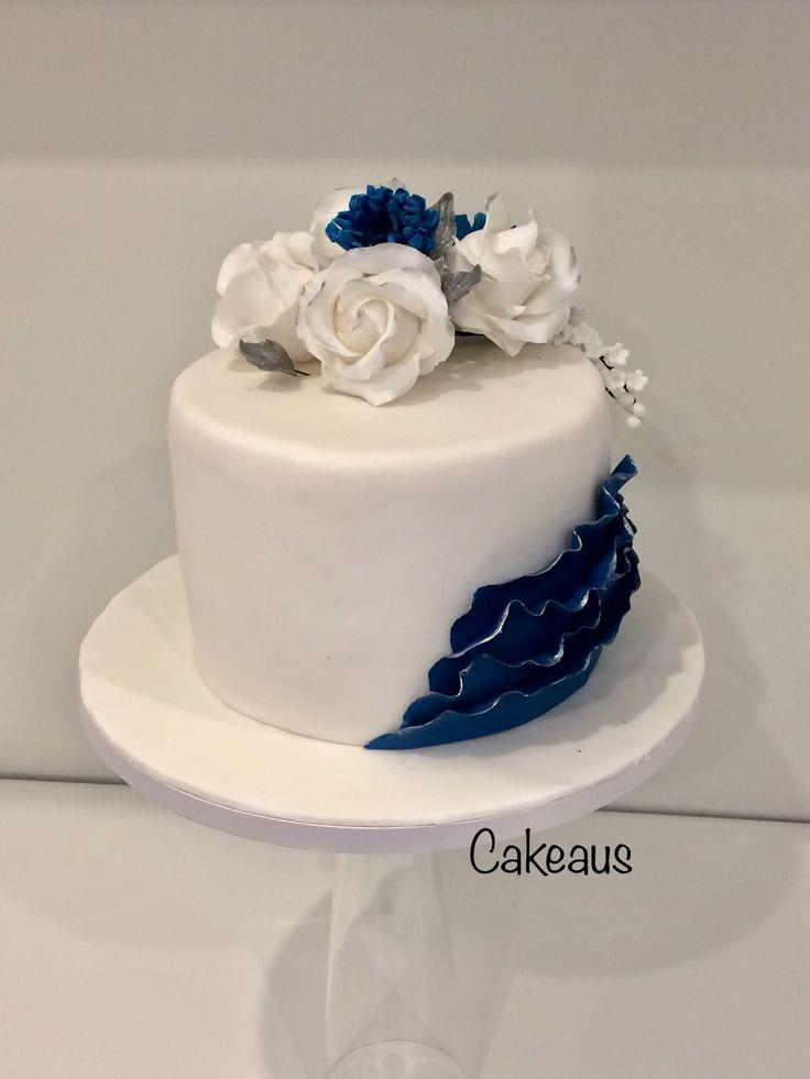 Blue white cake, Suomi 100 täytekakku valkoinen - sininen