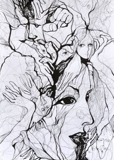 "Saatchi Art Artist Boicu Marinela; Drawing, ""Fight the world"" #art"