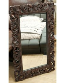 Винтажное Итальянское зеркало в интерьере Красное дерево