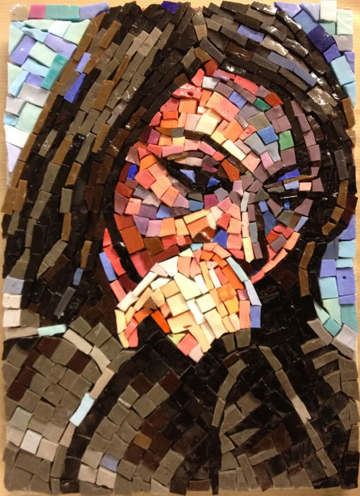 'Giulia' glass mosaic sketch by Gary Drostle©