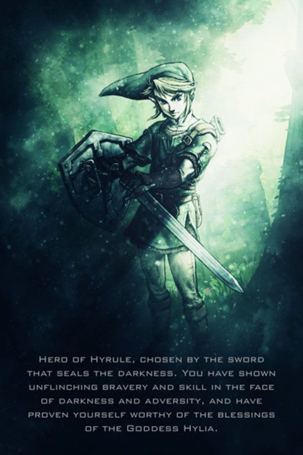 Legend Of Zelda Tagline Poster Print By Gab Fernando Displate In 2020 Metal Posters Poster Prints Legend Of Zelda