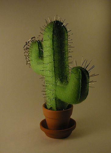 Cactus pincushion! @Katie Hrubec Anna we HAVE to try to find or make one of these for you!!!!