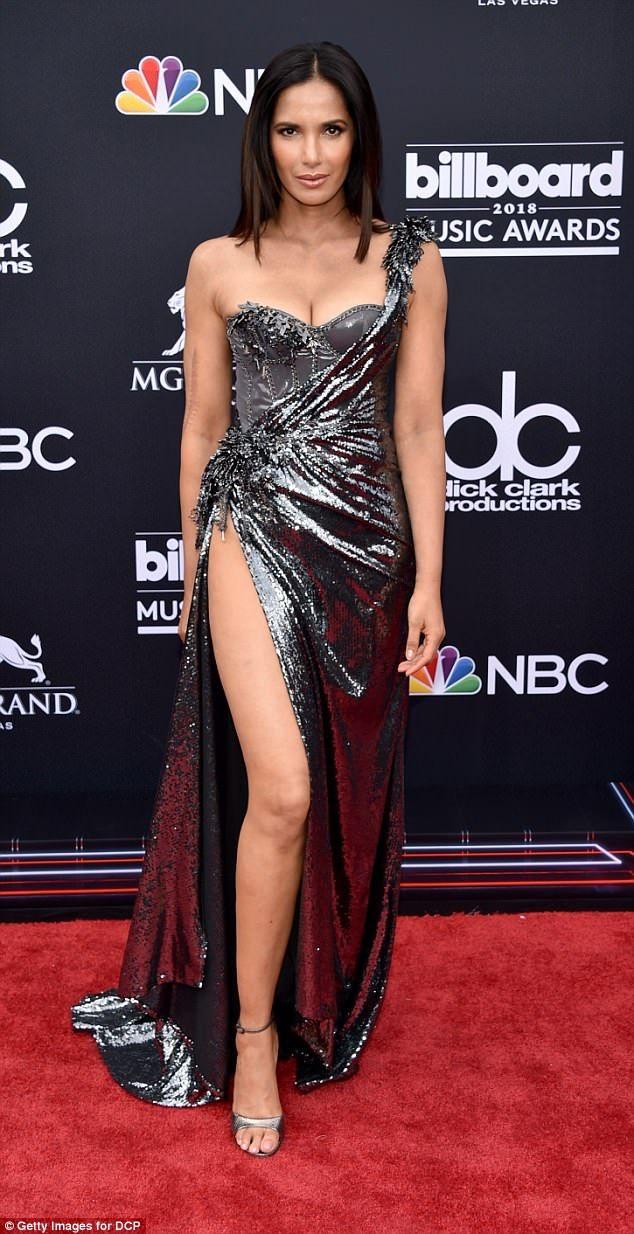 Billboards 2018: Padma Lakshmi serves ample cleavage in