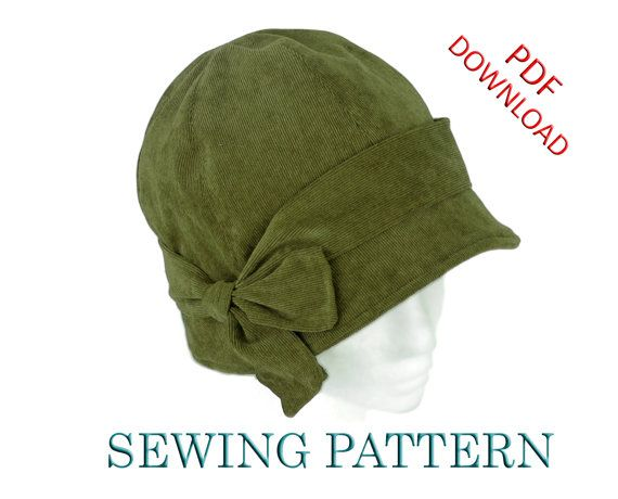 SEWING PATTERN Penny 1920s Cloche Hat for by ElsewhenMillinery, $15.00