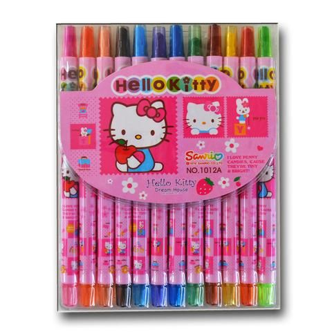 V207 - 15 cm Twistable Crayons - Hello Kitty - School Depot NZ