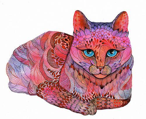 Zentangle cat.