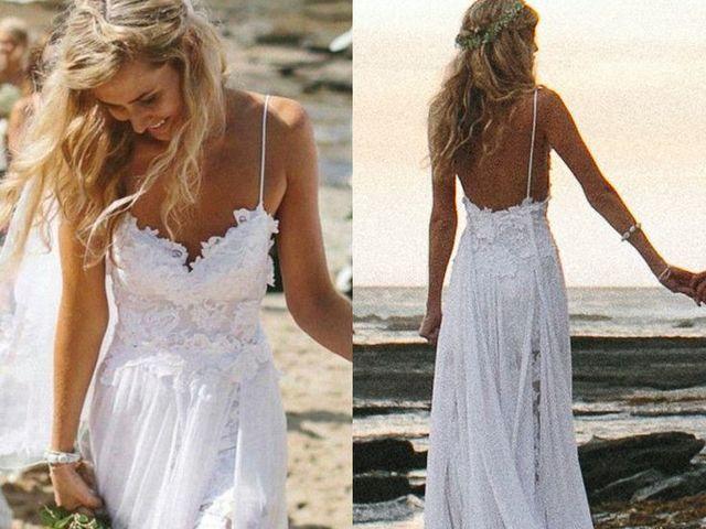 A flowery beachy dress