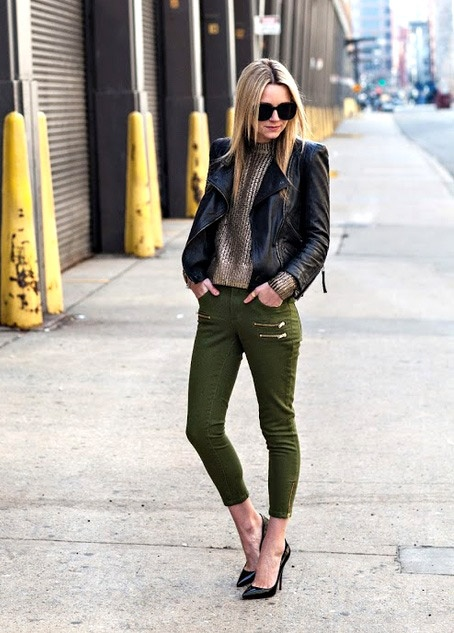 Blair Eadie Atlantic-Pacific in Chic Military Punk Look  #military  #style  #fashion  #trend #trends  #trendy
