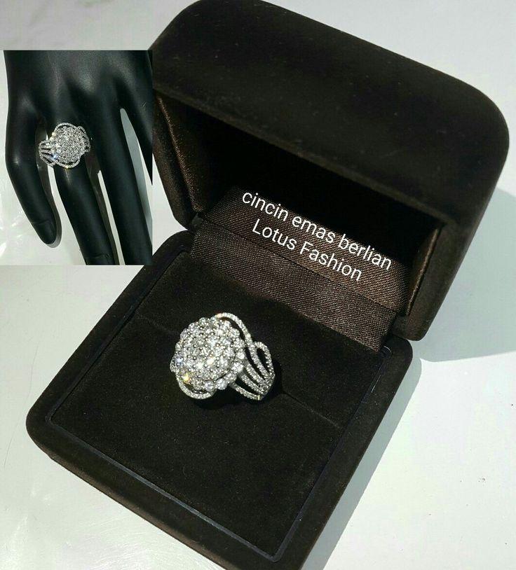 Cantik. Elegant. So cheap.  Cincin Emas Berlian Lotus Fashion💍.   🏪Toko Perhiasan Emas Berlian-Ammad 📲+6282113309088/5C50359F  Cp.Antrika👩.  https://m.facebook.com/home.php #investasi#diomond#gold#beauty#fashion#elegant#musthave#tokoperhiasanemasberlian