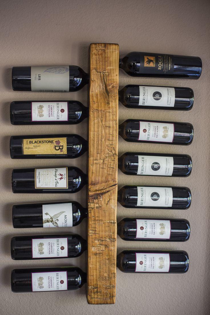 Wood Wall Wine Rack Post Style Vertical Wine Rack Holds