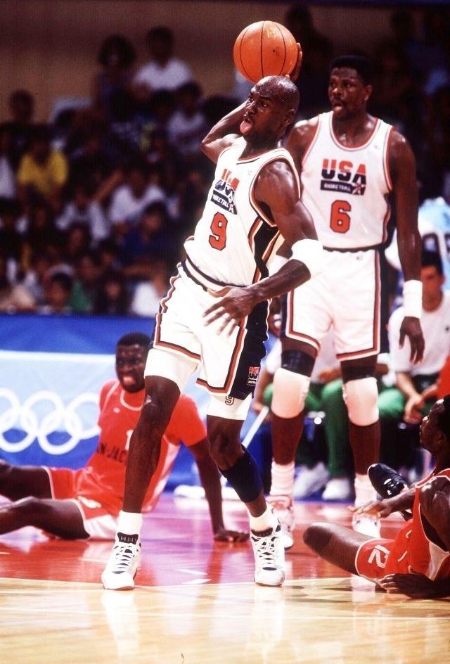 Michael Jordan USA Olympic Basketball Team Patrick Ewing Dream Team