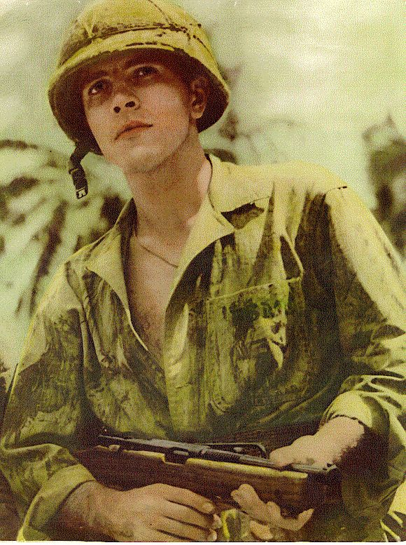 "Michael Strank. Died in the battle for Iwo Jima in WW2. Described by his men as the best man they ever knew, ""Sgt Mike Strank's squad idolized him."""