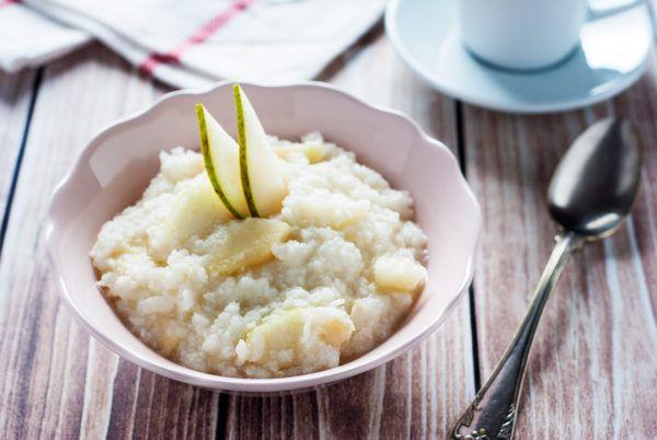 Płatki ryżowe z gruszką i imbirem