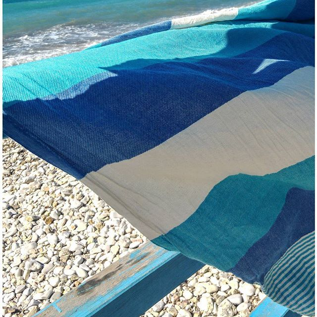 Strandtuch / Toalla playa  Lailo Towel in blue ⛵⚓ Home is where the beach is...!!