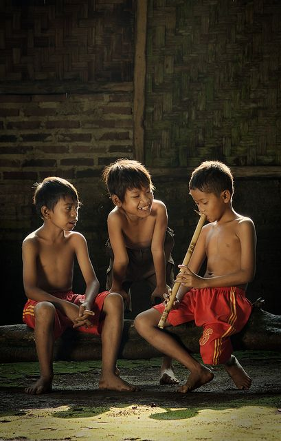 Showing Off by syukaery on Flickr. Indonesian children, Rumpin (West Java)